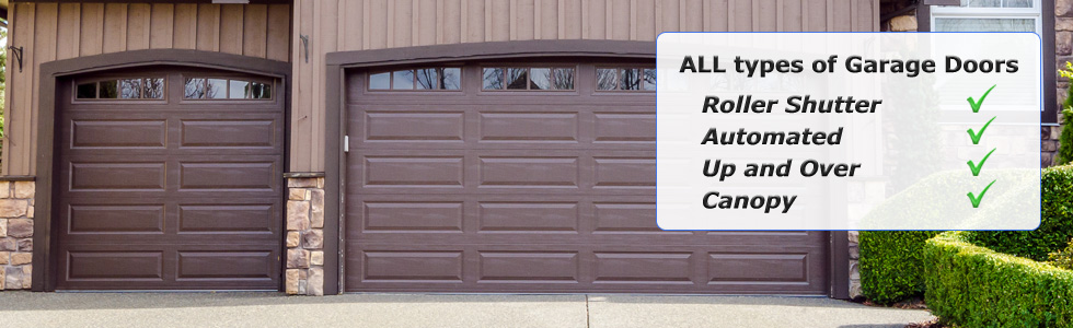 Roller shutter, automated, up and over, canopy garage doors